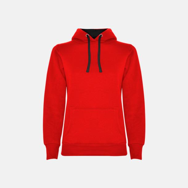 Red 60/Black 02 (dam) Tvåfärgade huvtröjor i herr & dam med reklamtryck
