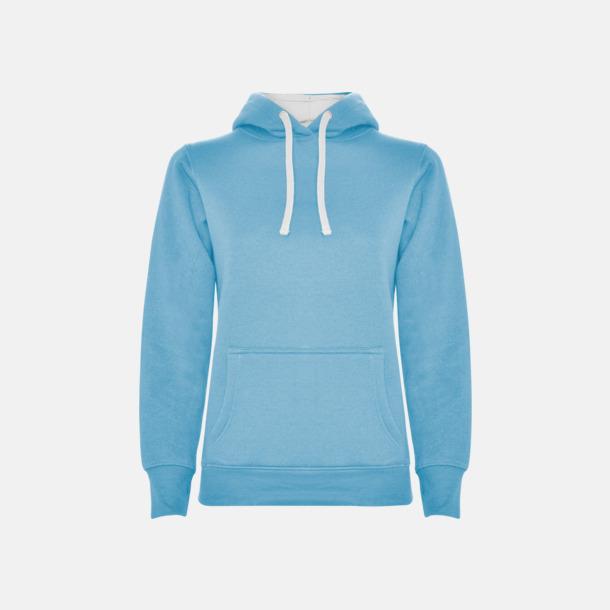 Sky Blue 10/White 01 (dam) Tvåfärgade huvtröjor i herr & dam med reklamtryck