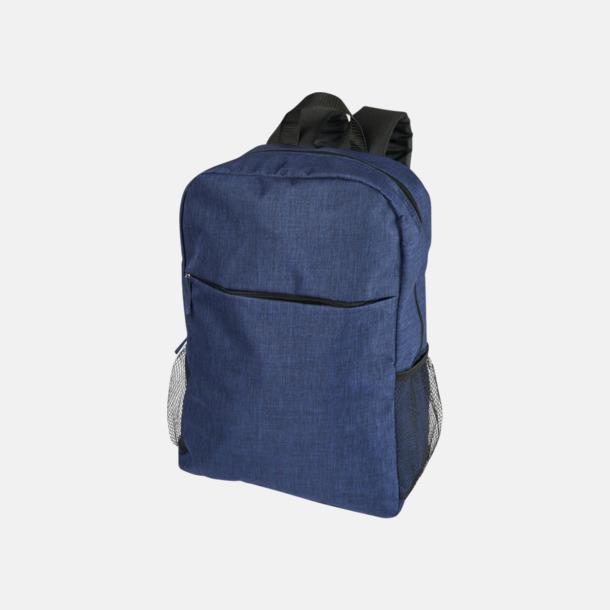 Marinblå Heather mönstrad ryggsäck med reklamtryck