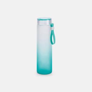 Vattenflaskor i frostat glas med eget tryck från oss på Medtryck