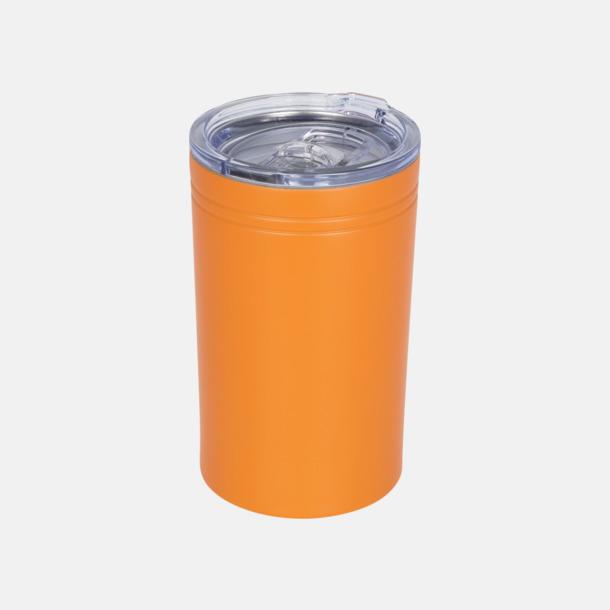 Orange Burkhållare med lock med reklamtryck