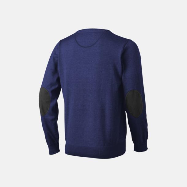 V-ringad lappad pullover med reklamtryck