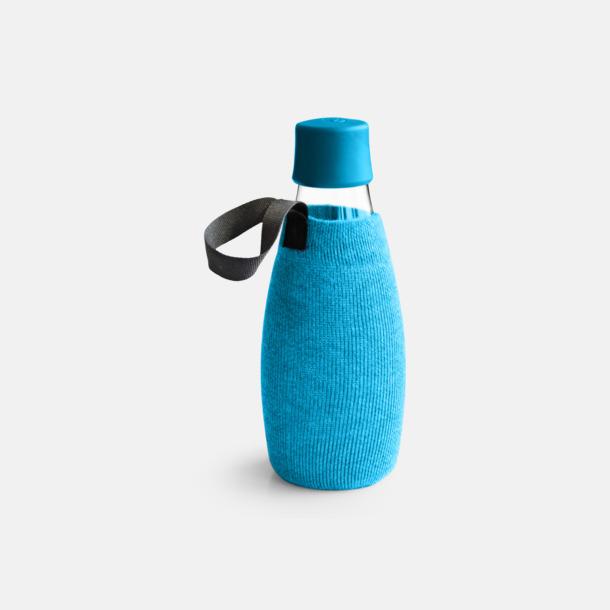 Sleeve Blå (tillval) Större glasflaskor med reklamtryck