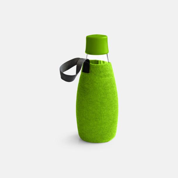 Sleeve Grön (tillval) Mindre vattenflaskor av glas med reklamtryck