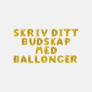 Folieballonger formade som siffror och bokstäver hos oss från Medtryck