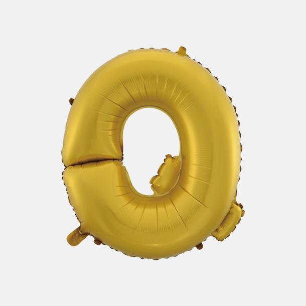 Q (50 cm, Guld) Folieballonger formade som siffror och bokstäver hos oss från Medtryck