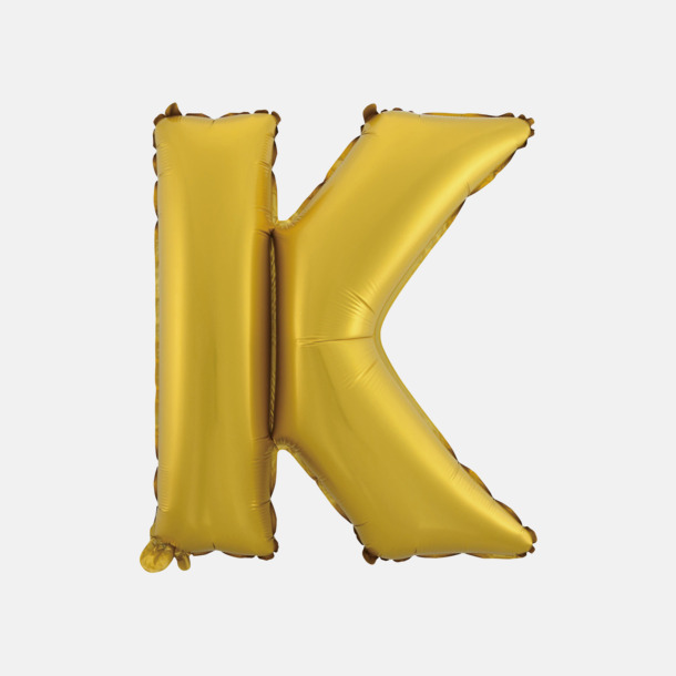 K (50 cm, Guld) Folieballonger formade som siffror och bokstäver hos oss från Medtryck