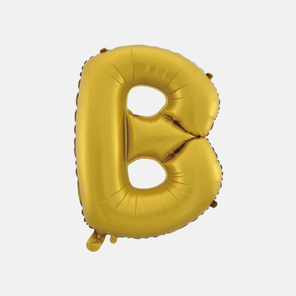 B (50 cm, Guld) Folieballonger formade som siffror och bokstäver hos oss från Medtryck