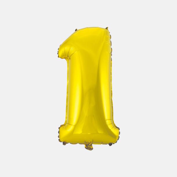 1 (50 cm, Guld) Folieballonger formade som siffror och bokstäver hos oss från Medtryck