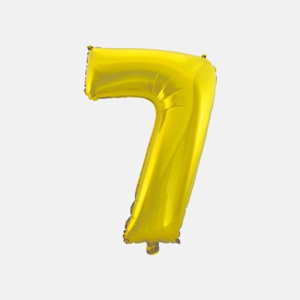 7 (50 cm, Guld) Folieballonger formade som siffror och bokstäver hos oss från Medtryck
