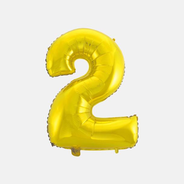 2 (50 cm, Guld) Folieballonger formade som siffror och bokstäver hos oss från Medtryck