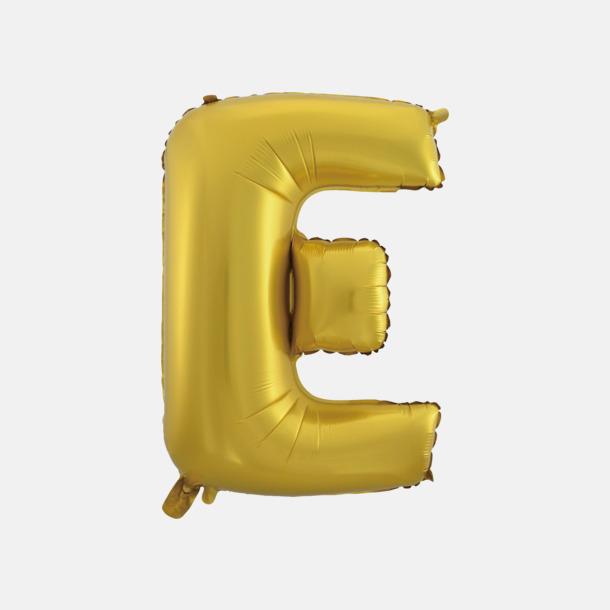 E (50 cm, Guld) Folieballonger formade som siffror och bokstäver hos oss från Medtryck