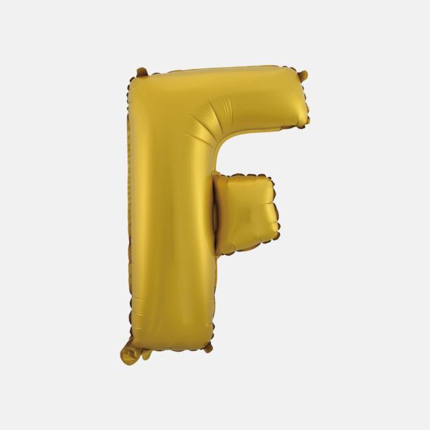 F (50 cm, Guld) Folieballonger formade som siffror och bokstäver hos oss från Medtryck