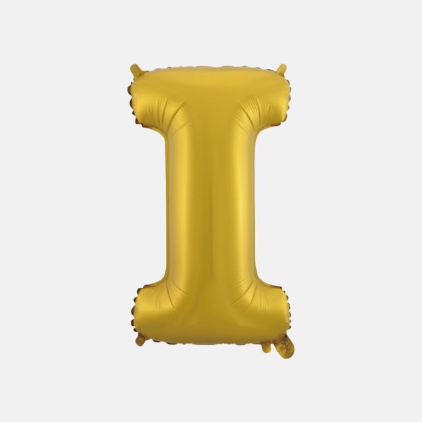 I (50 cm, Guld) Folieballonger formade som siffror och bokstäver hos oss från Medtryck