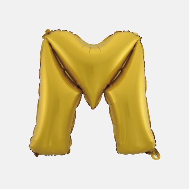 M (50 cm, Guld) Folieballonger formade som siffror och bokstäver hos oss från Medtryck