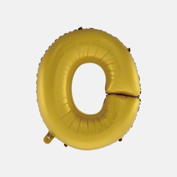 O (50 cm, Guld) Folieballonger formade som siffror och bokstäver hos oss från Medtryck
