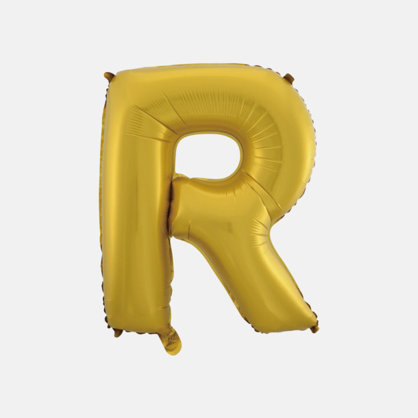 R (50 cm, Guld) Folieballonger formade som siffror och bokstäver hos oss från Medtryck