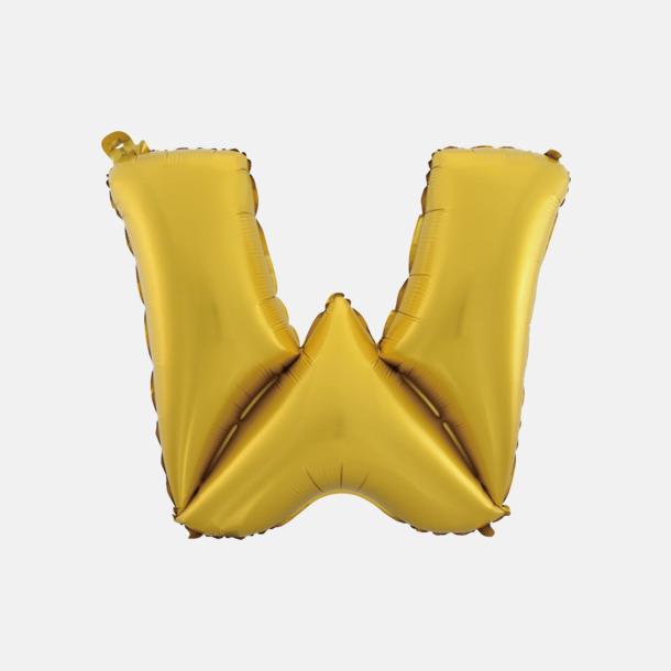 W (50 cm, Guld) Folieballonger formade som siffror och bokstäver hos oss från Medtryck