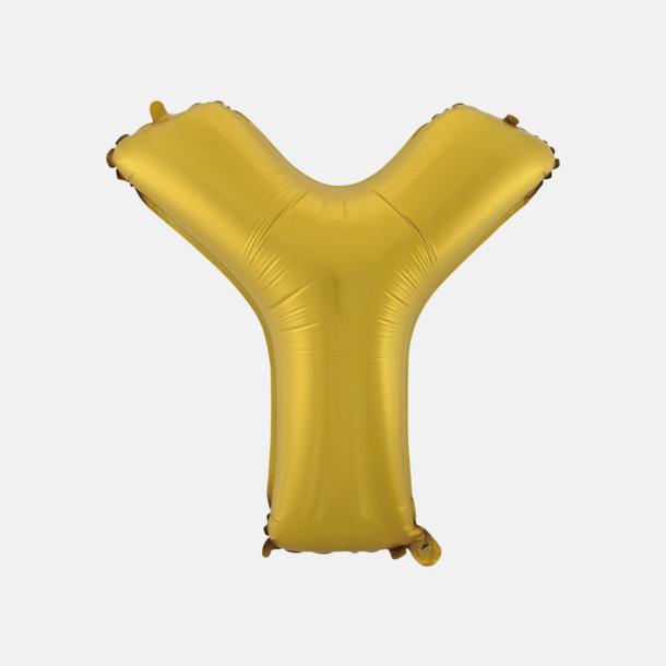 Y (50 cm, Guld) Folieballonger formade som siffror och bokstäver hos oss från Medtryck