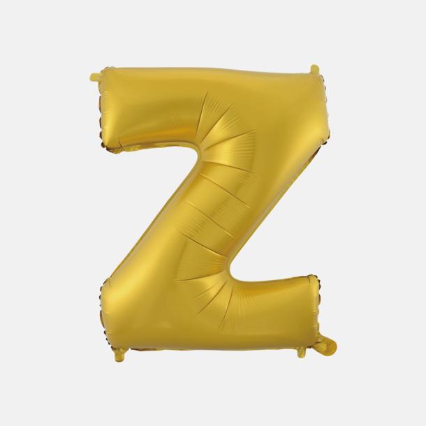 Z (50 cm, Guld) Folieballonger formade som siffror och bokstäver hos oss från Medtryck