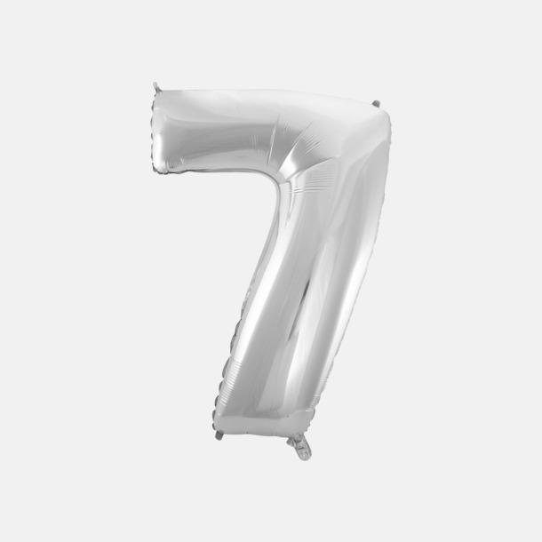 7 (90 cm, Silver) Folieballonger formade som siffror och bokstäver hos oss från Medtryck