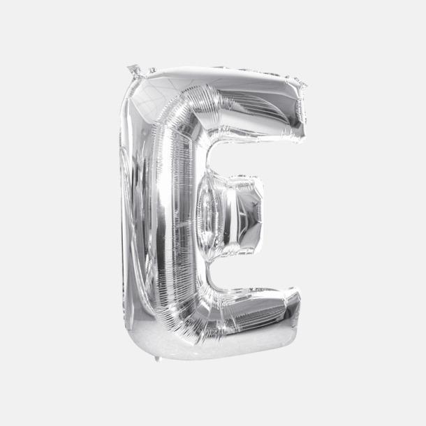 E (90 cm, Silver) Folieballonger formade som siffror och bokstäver hos oss från Medtryck