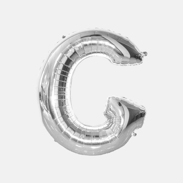 G (90 cm, Silver) Folieballonger formade som siffror och bokstäver hos oss från Medtryck