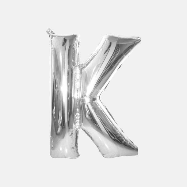 K (90 cm, Silver) Folieballonger formade som siffror och bokstäver hos oss från Medtryck