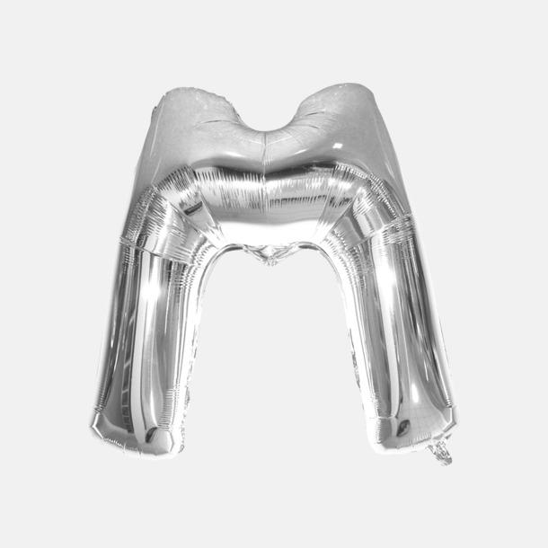 M (90 cm, Silver) Folieballonger formade som siffror och bokstäver hos oss från Medtryck