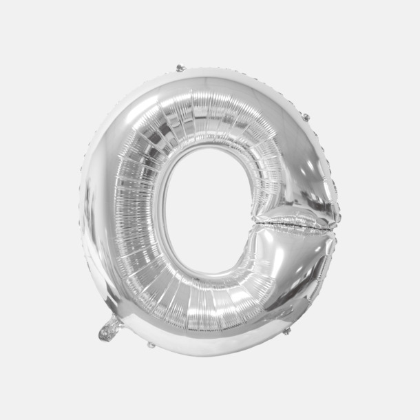 O (90 cm, Silver) Folieballonger formade som siffror och bokstäver hos oss från Medtryck