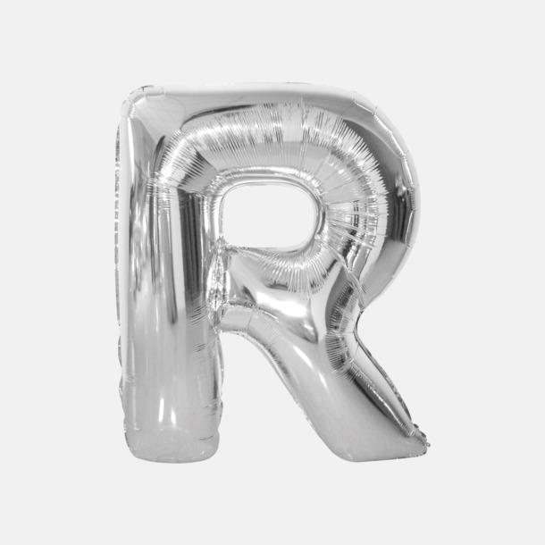 R (90 cm, Silver) Folieballonger formade som siffror och bokstäver hos oss från Medtryck