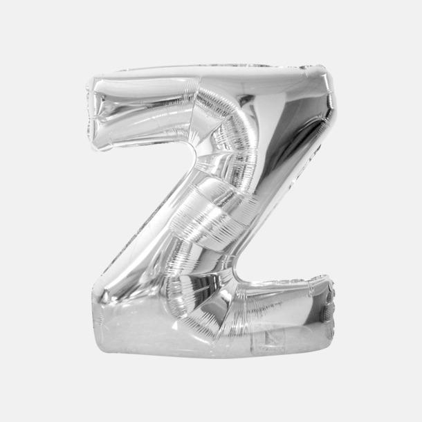 Z (90 cm, Silver) Folieballonger formade som siffror och bokstäver hos oss från Medtryck