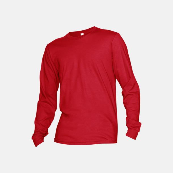 Röd Fina, långärmade unisex t-shirts med reklamtryck