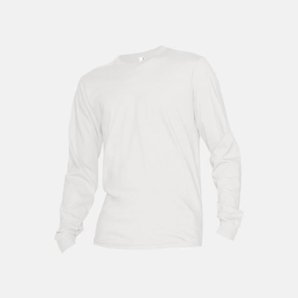 Vit Fina, långärmade unisex t-shirts med reklamtryck