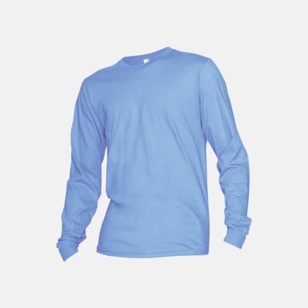 Baby Blue Fina, långärmade unisex t-shirts med reklamtryck