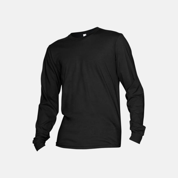 Svart Fina, långärmade unisex t-shirts med reklamtryck