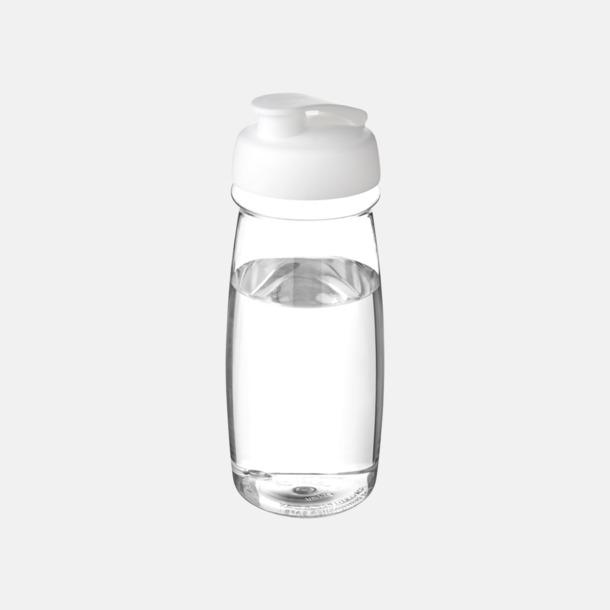 Transparent / Vit 60 cl flaskor i återvunnet material med reklamtryck