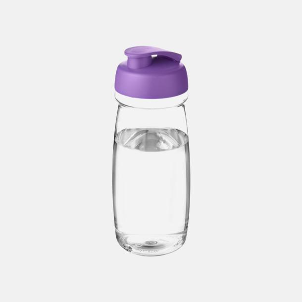 Transparent / Lila 60 cl flaskor i återvunnet material med reklamtryck