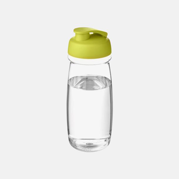 Transparent/Lime 60 cl flaskor i återvunnet material med reklamtryck