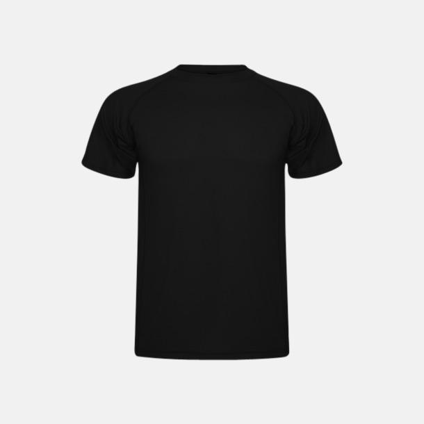 Svart (unisex, barn) Billiga sport t-shirts i unisex, dam & barn - med reklamtryck