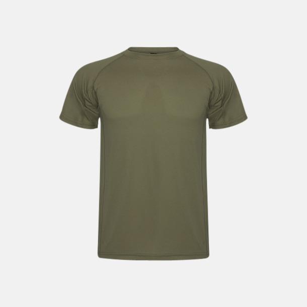 Army Green (unisex) Billiga sport t-shirts i unisex, dam & barn - med reklamtryck