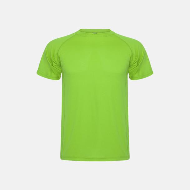 Limegrön (unisex, barn) Billiga sport t-shirts i unisex, dam & barn - med reklamtryck