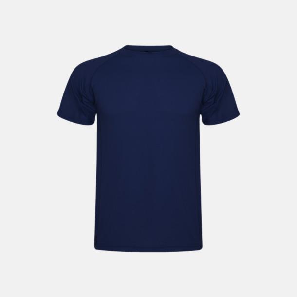 Marinblå (unisex, barn) Billiga sport t-shirts i unisex, dam & barn - med reklamtryck