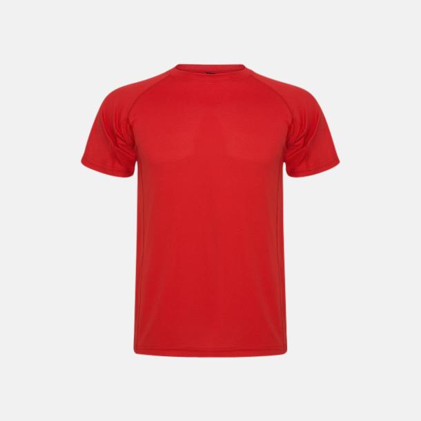 Röd (unisex, barn) Billiga sport t-shirts i unisex, dam & barn - med reklamtryck
