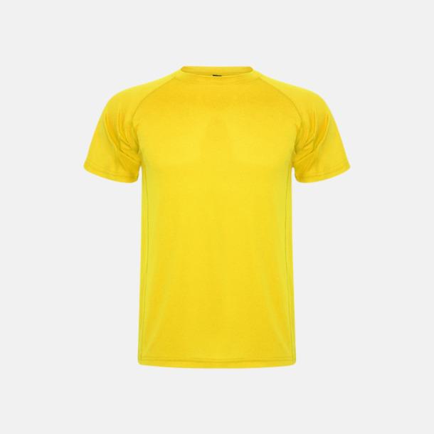 Gul (unisex, barn) Billiga sport t-shirts i unisex, dam & barn - med reklamtryck