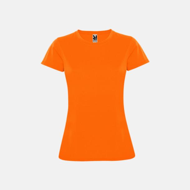 Fluor Orange (dam) Billiga sport t-shirts i unisex, dam & barn - med reklamtryck