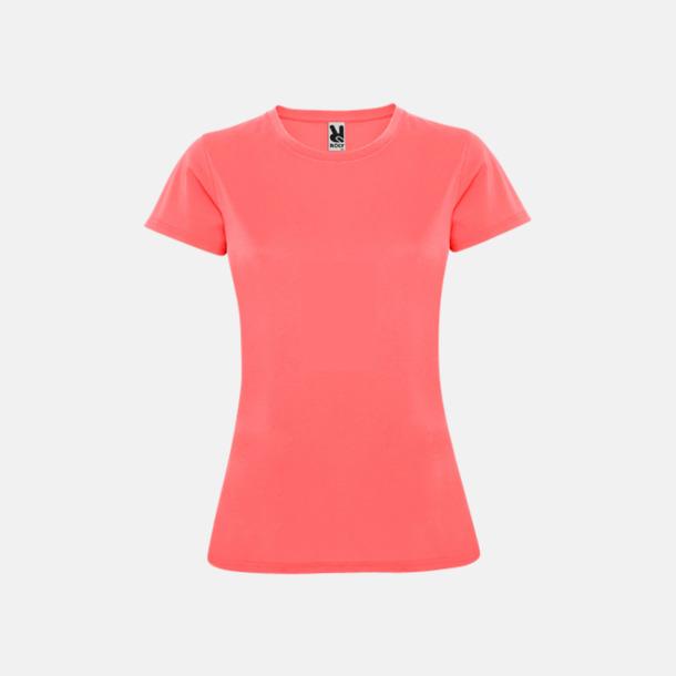 Fluor Coral (dam) Billiga sport t-shirts i unisex, dam & barn - med reklamtryck