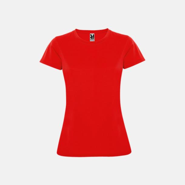 Röd (dam) Billiga sport t-shirts i unisex, dam & barn - med reklamtryck