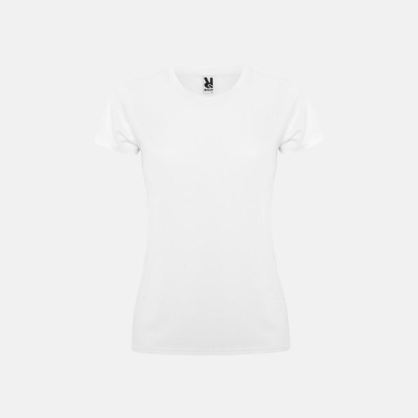 Vit (dam) Billiga sport t-shirts i unisex, dam & barn - med reklamtryck