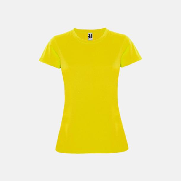 Gul (dam) Billiga sport t-shirts i unisex, dam & barn - med reklamtryck
